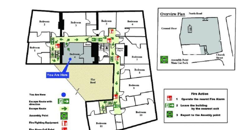 Fire Exit Lease Floor Plan